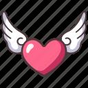 heart, love, valentine, decoration, romantic, romance, wing