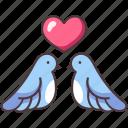 love, bird, romantic, couple, heart, animal, wedding