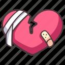 break, heart, divorce, breakup, separation, sad, pain