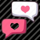 love, chat, message, heart, communication, online, talk