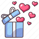 love, gift, box, heart, valentine, anniversary, romance