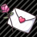 mail, flower, romantic, love, rose, valentine, romance