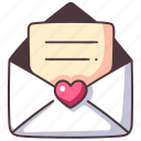 mail, love, message, letter, envelope, heart, wedding