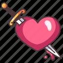 sword, heart, tattoo, love, sad, break