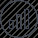 abstract, bars, creative, data, design icon
