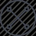 abstract, creative, cross, design, edge, line icon