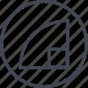 abstract, creative, design, edge, shape icon
