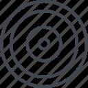abstract, creative, design, eye, goal icon