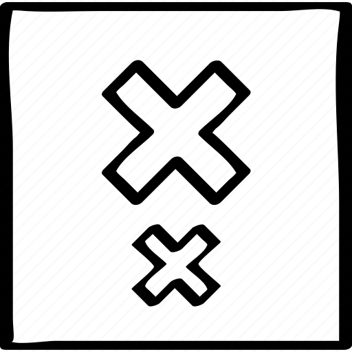 abstract, delete, x icon