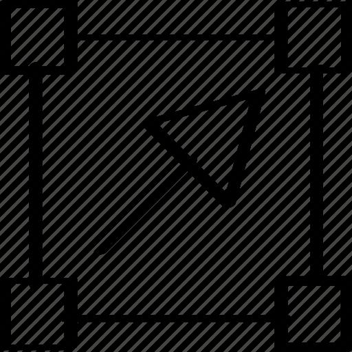 arrow, click, creative icon