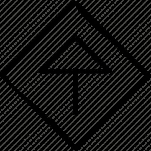 arrow, high, sales icon