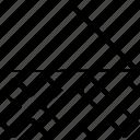 arrow, up, x icon