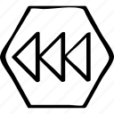 arrows, left, point icon