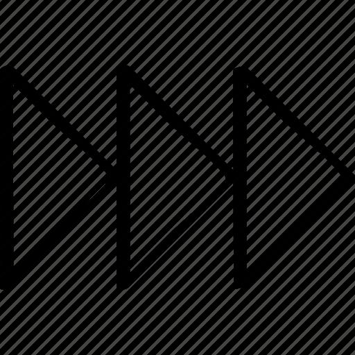 arrows, go, right icon