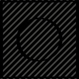 center, creative, dot icon