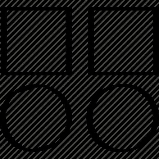 abstract, copy, design icon