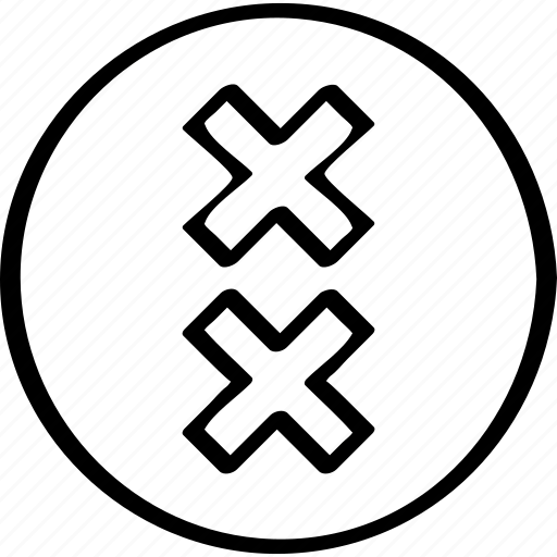 abstract, creative, cross, design icon