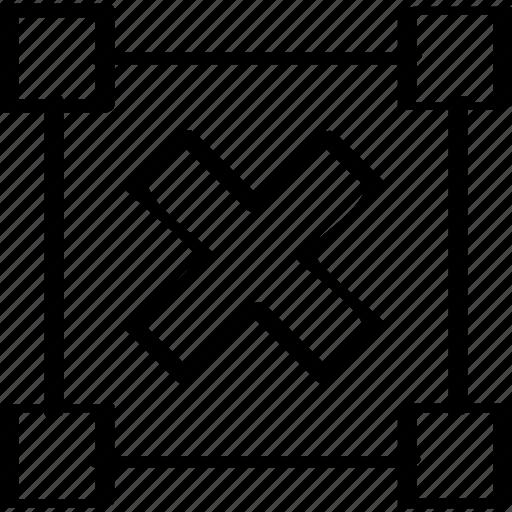 creative, cross, delete icon