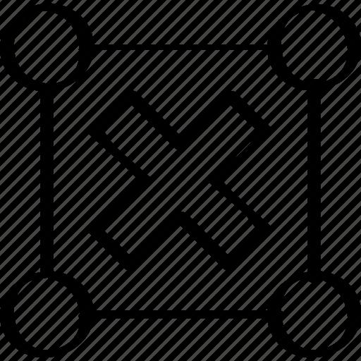 creative, cross, design, stop icon
