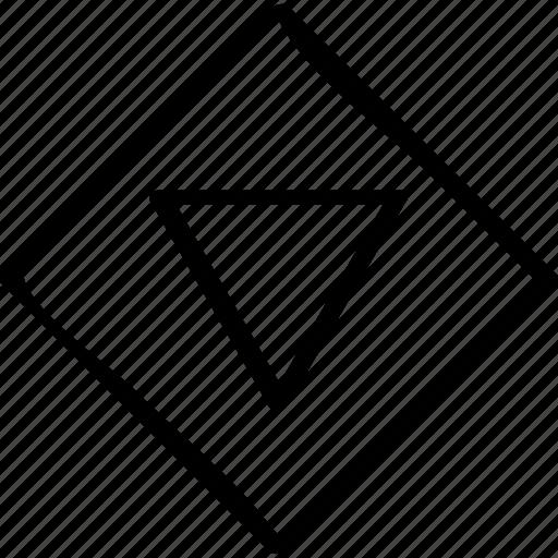 arrow, cube, point icon