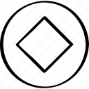 center, creative, cube icon