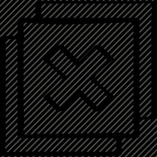 abstract, creative, delete, design icon