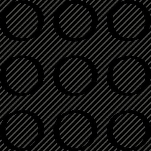 creative, design, dots icon