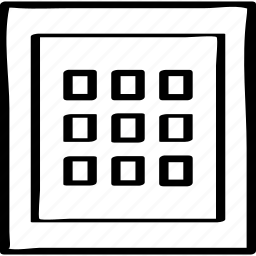 design, dots, nine icon