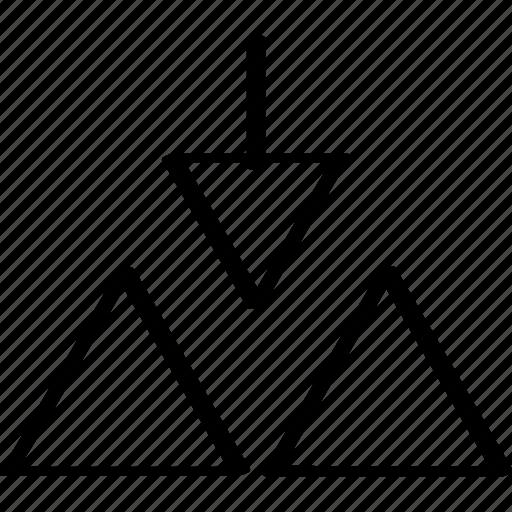 arrow, design, down icon