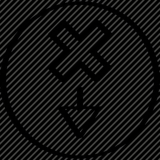 creative, design, down icon