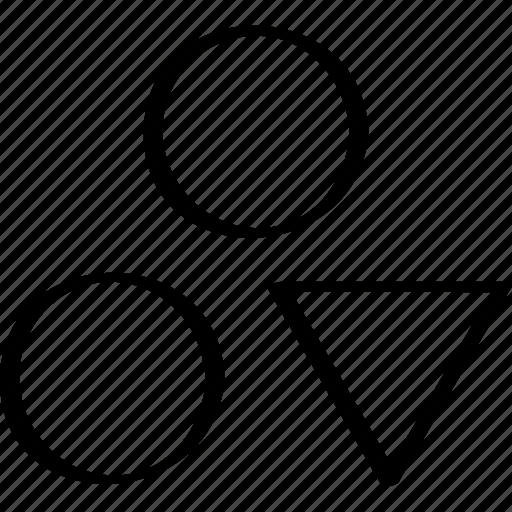 creative, dots, down icon