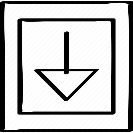 abstract, down, point icon