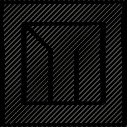 abstract, design, edge icon
