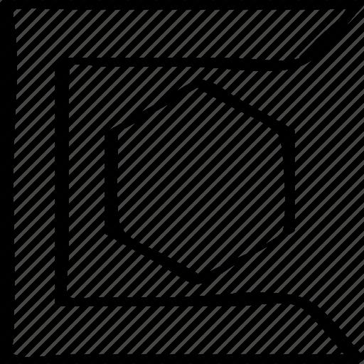 creative, edge, sharp icon