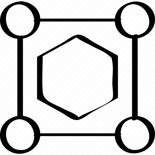 creative, edit, hexagon icon