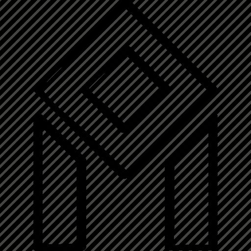 column, creative, line icon