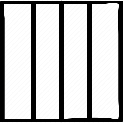 column, lines, multiple icon