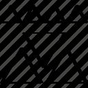 creative, many, triangles icon