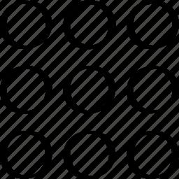 creative, design, dots, nine icon