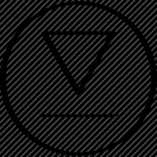 creative, down, point icon