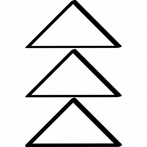 arrows, point, three icon