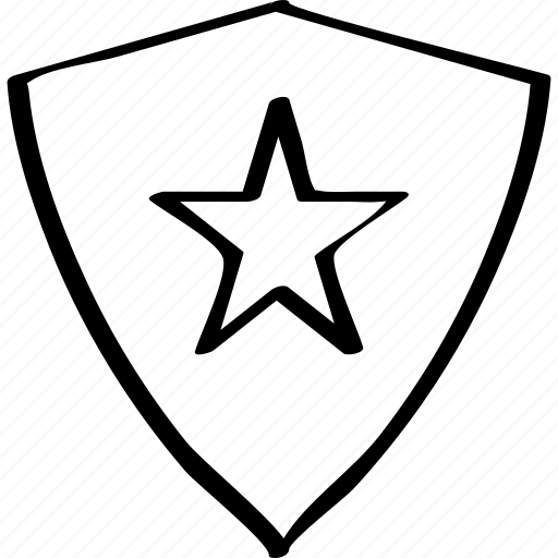 creative, shield, star icon