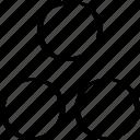 creative, dots, three icon