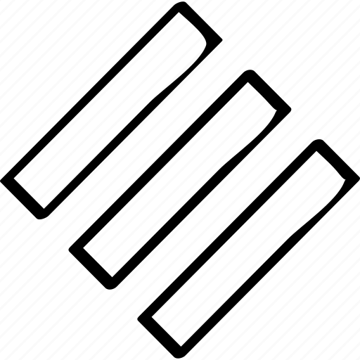creative, lines, three icon