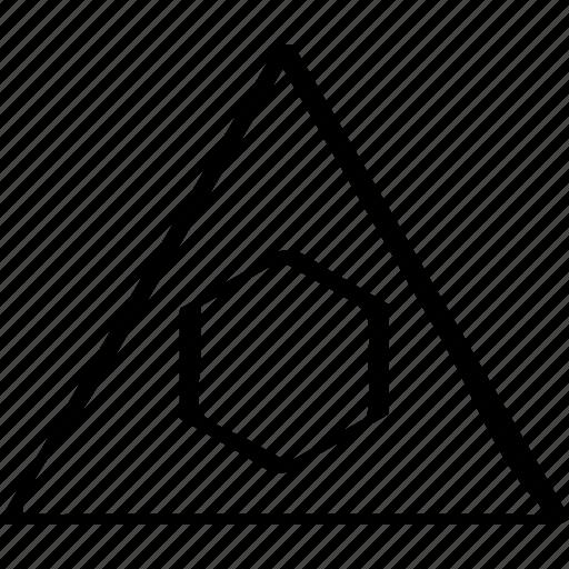 creative, design, triangle icon