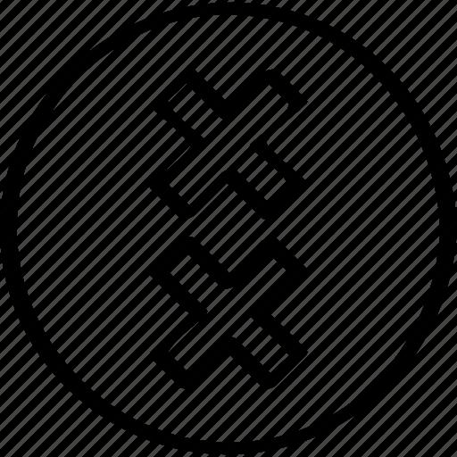 creative, cross, design, two icon
