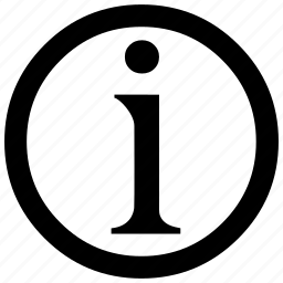 d, information icon