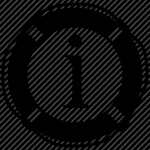 e, information icon