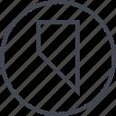 abstract, bookmark, creative, design, edge, shapr icon