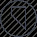 abstract, arrow, creative, design, down, edge icon